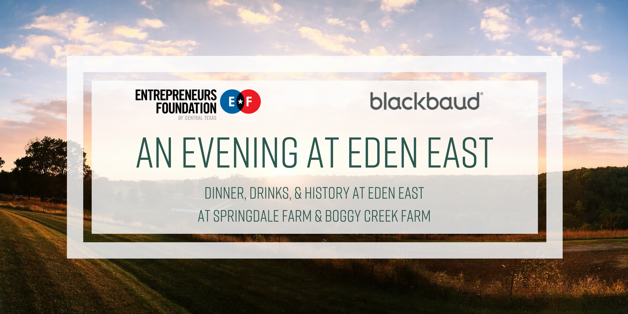 An Evening at Eden East