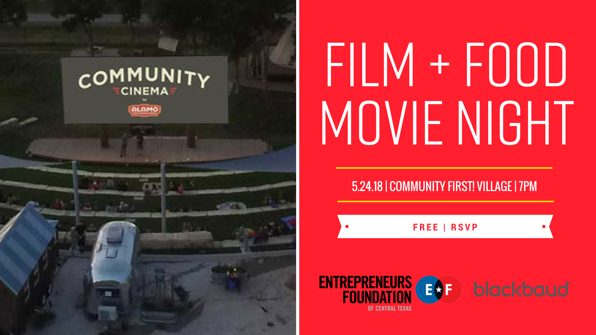 Film + Food Movie Night at the Community First! Village